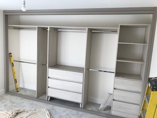 "Spacepro ""Shaker DeLuxe""  Fitted Wardrobe Installed by Joinery Installations Chesterfield"